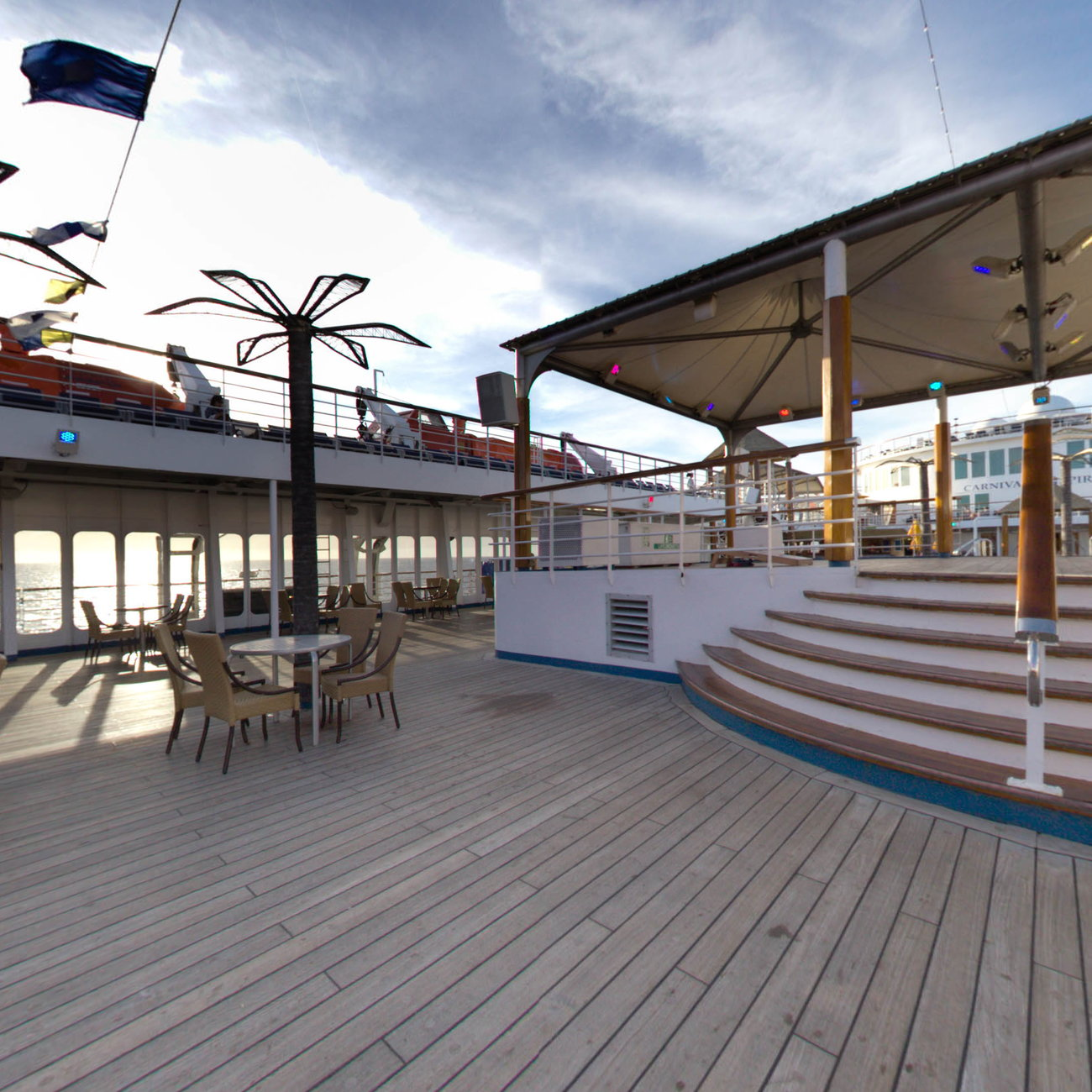Panorama of Lido Deck Stage on Carnival Inspiration