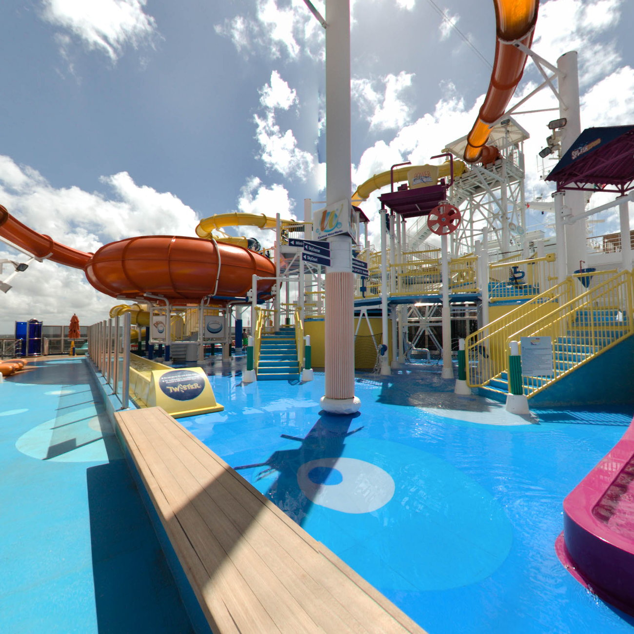 Panorama of The Carnival WaterWorks on Carnival Magic