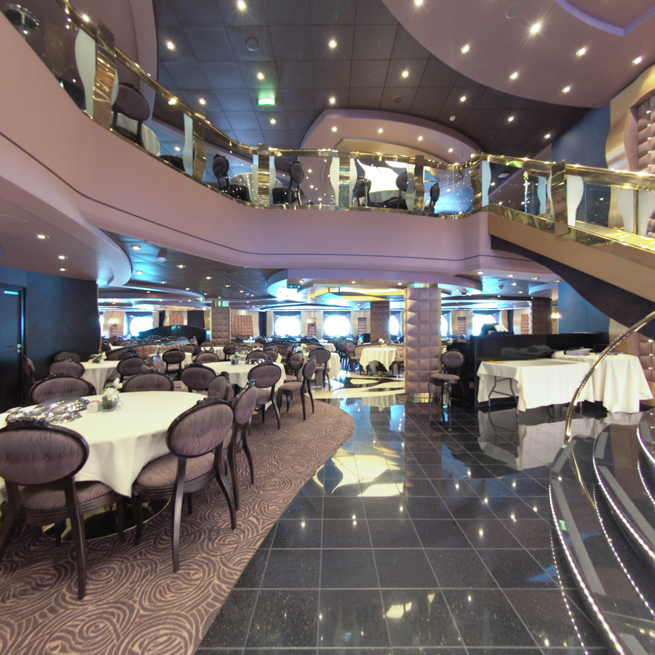 Panorama of The Black Crab on MSC Divina