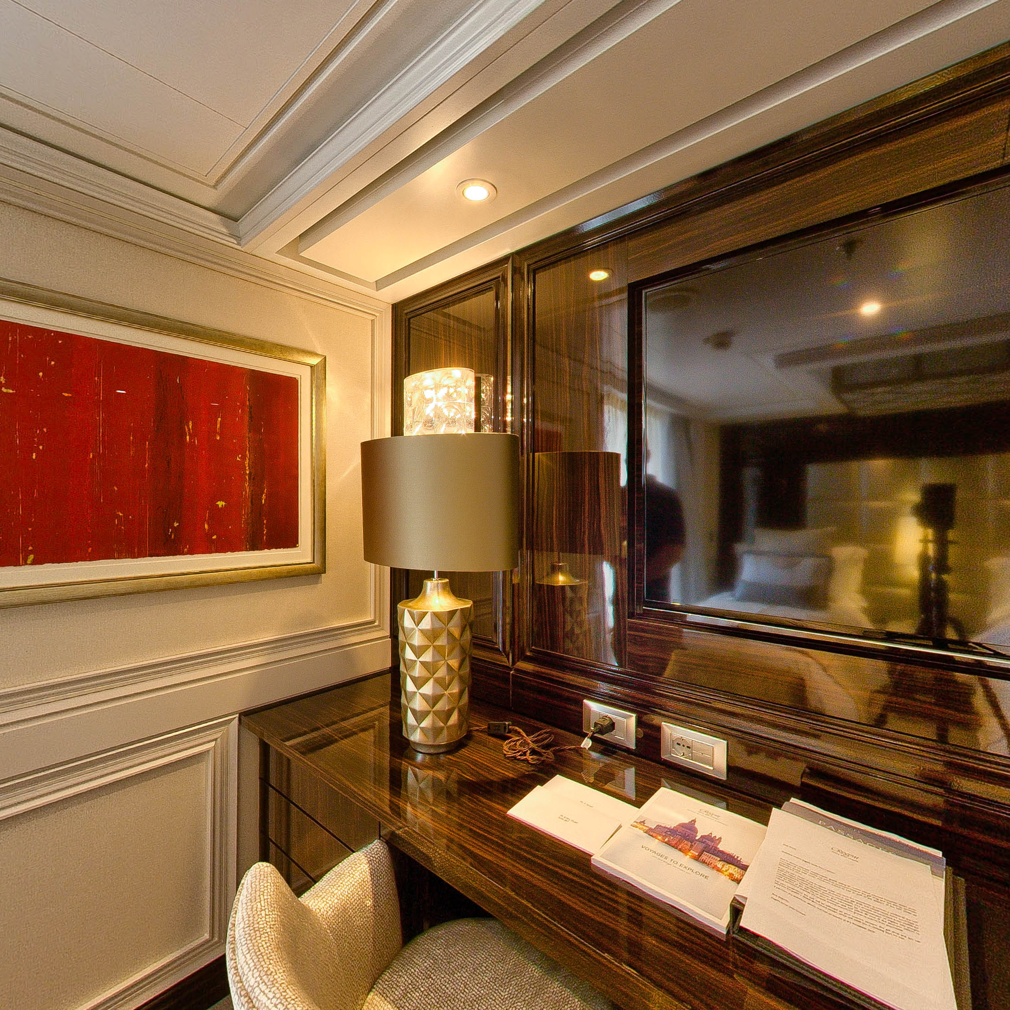Panorama of The Master Suite on Seven Seas Explorer