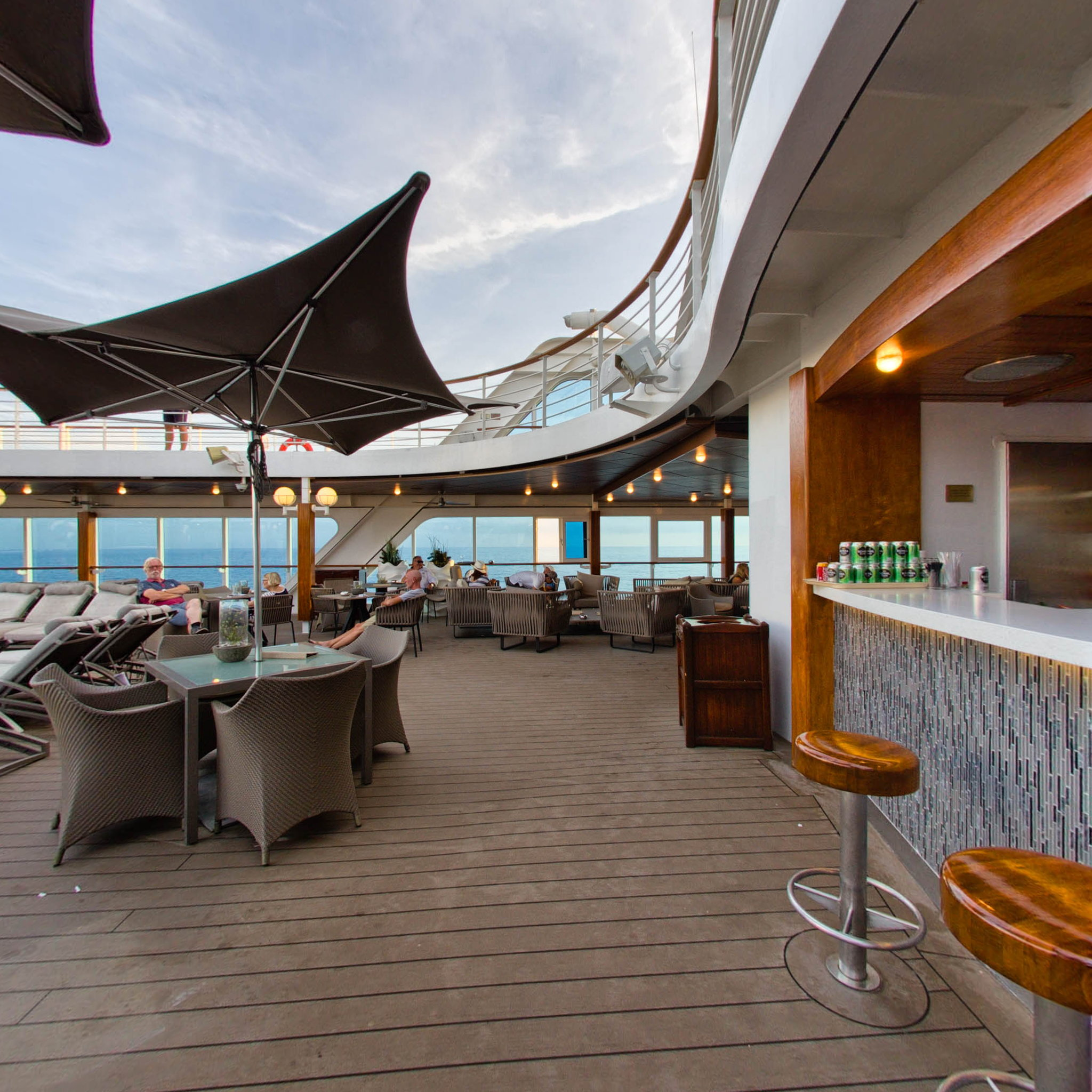 Panorama of Pool Bar on Azamara Journey