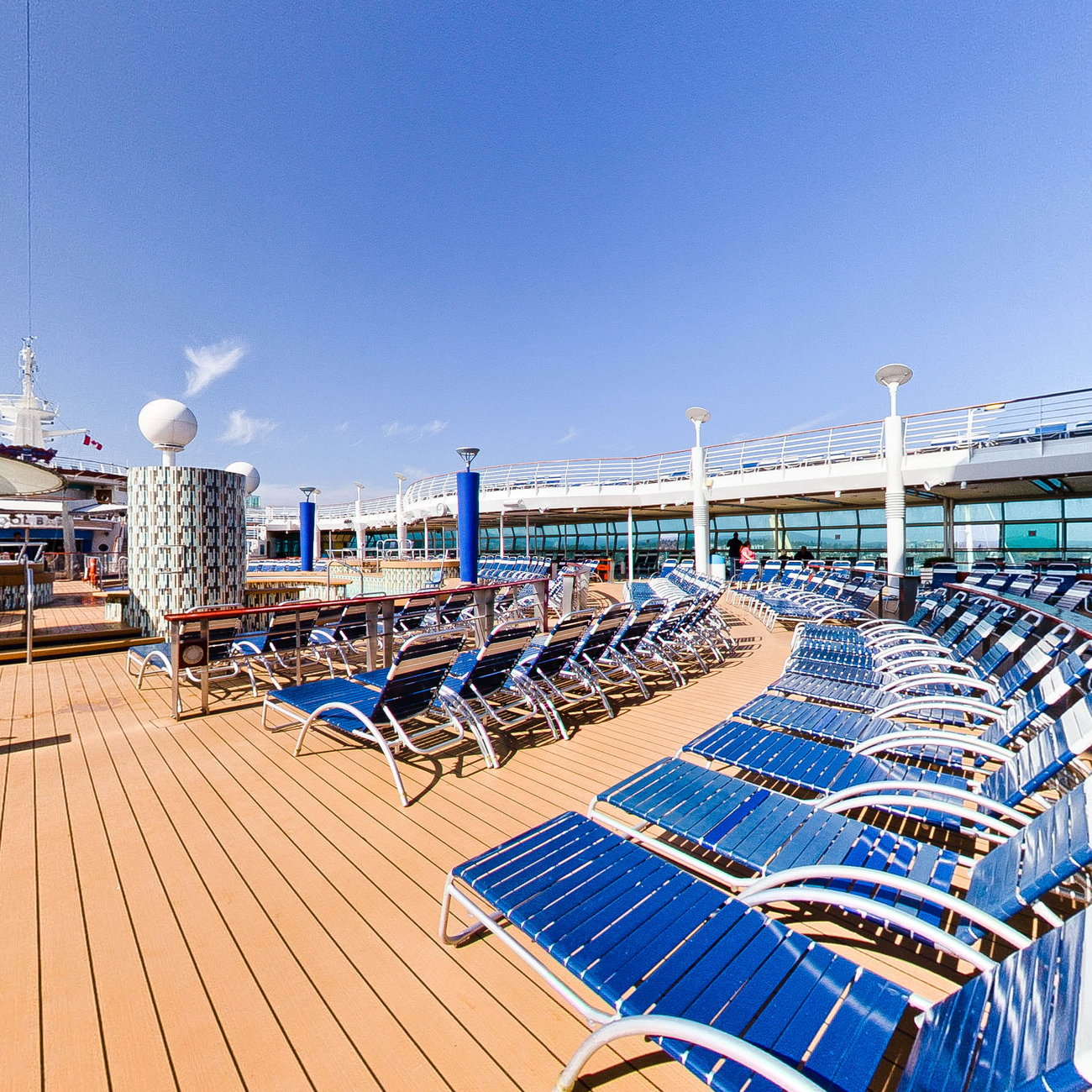 Panorama of The Main Swimming Pools on Explorer of the Seas
