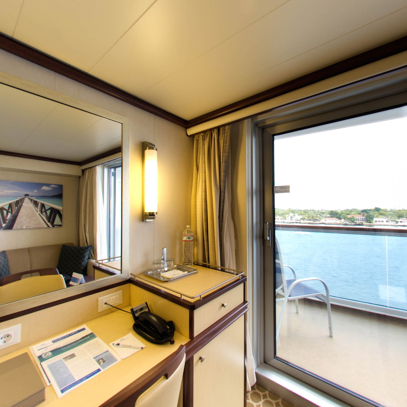 Panorama of the Deluxe Balcony on the Regal Princess