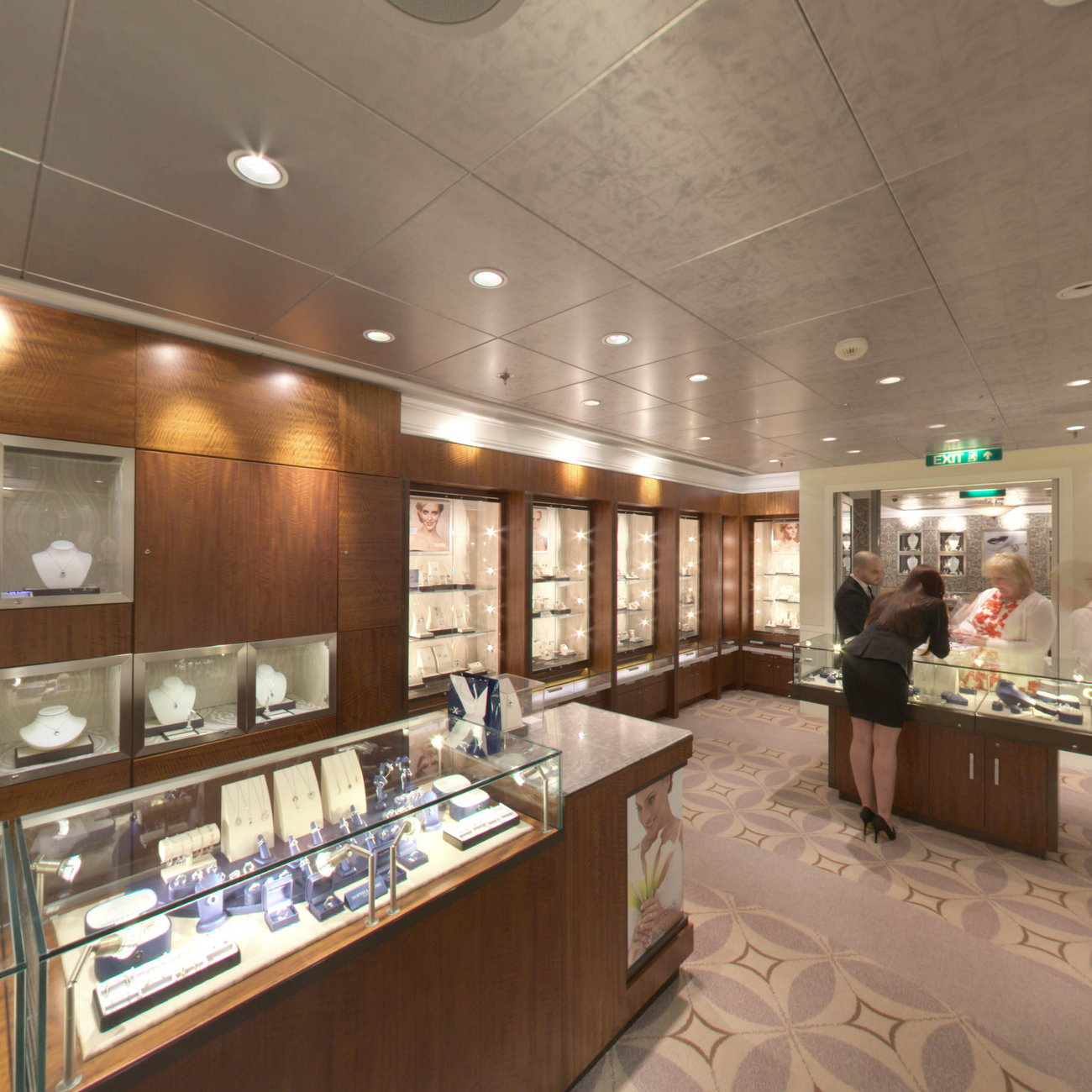 Panorama of Shops on Celebrity Eclipse