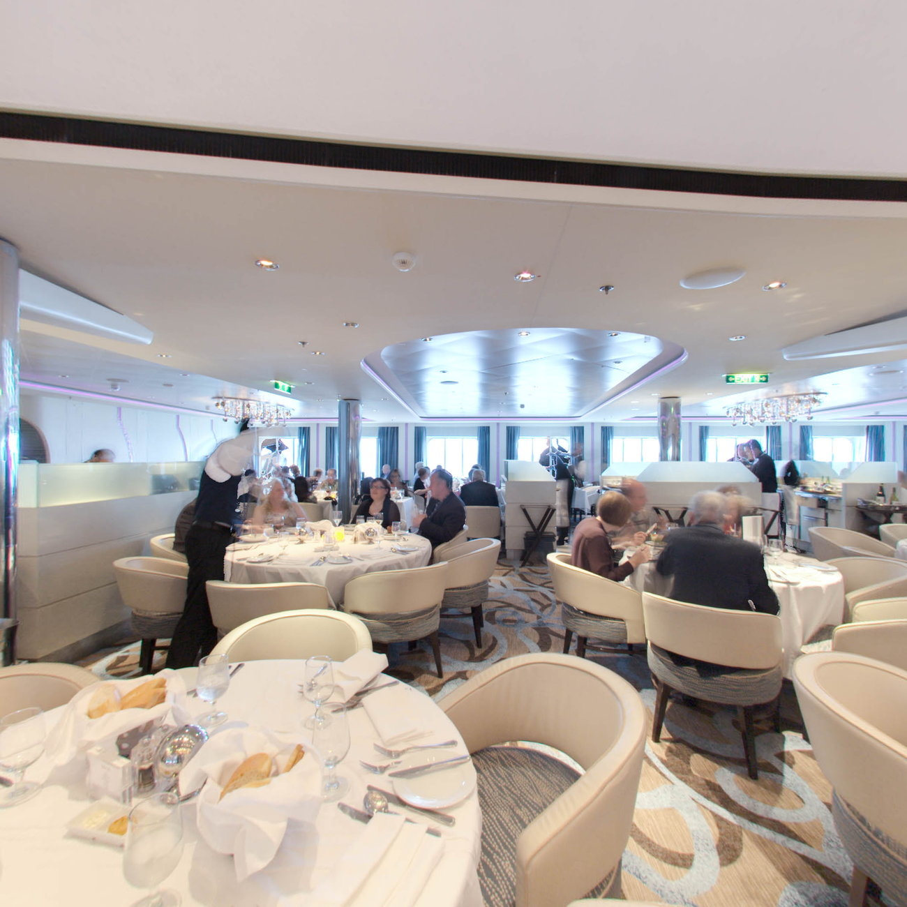 Panorama of The Moonlight Sonata Dining Room on Celebrity Eclipse