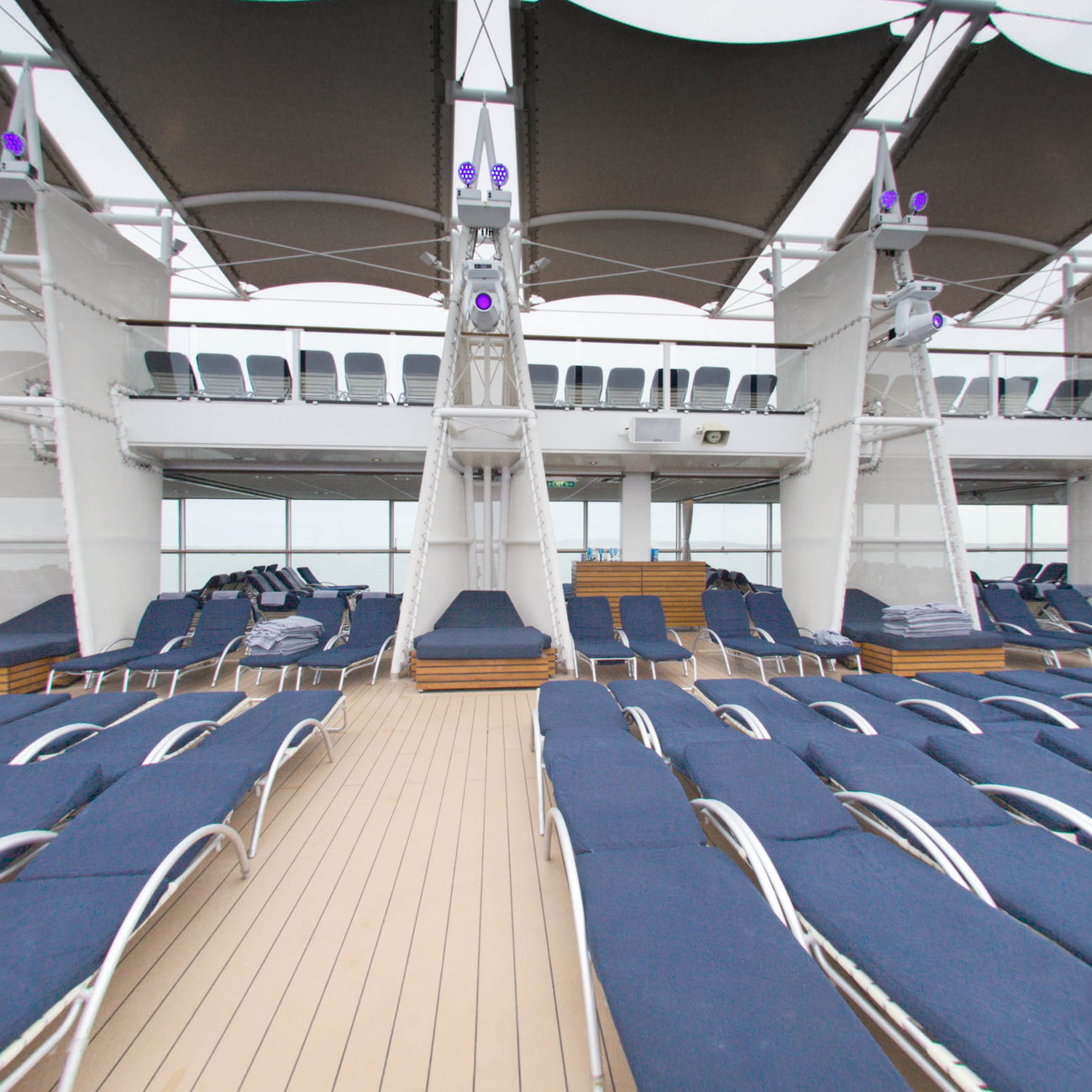Panorama of The Pool on Celebrity Eclipse