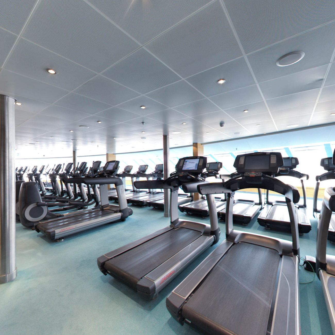 Panorama of Fitness Center on Carnival Breeze