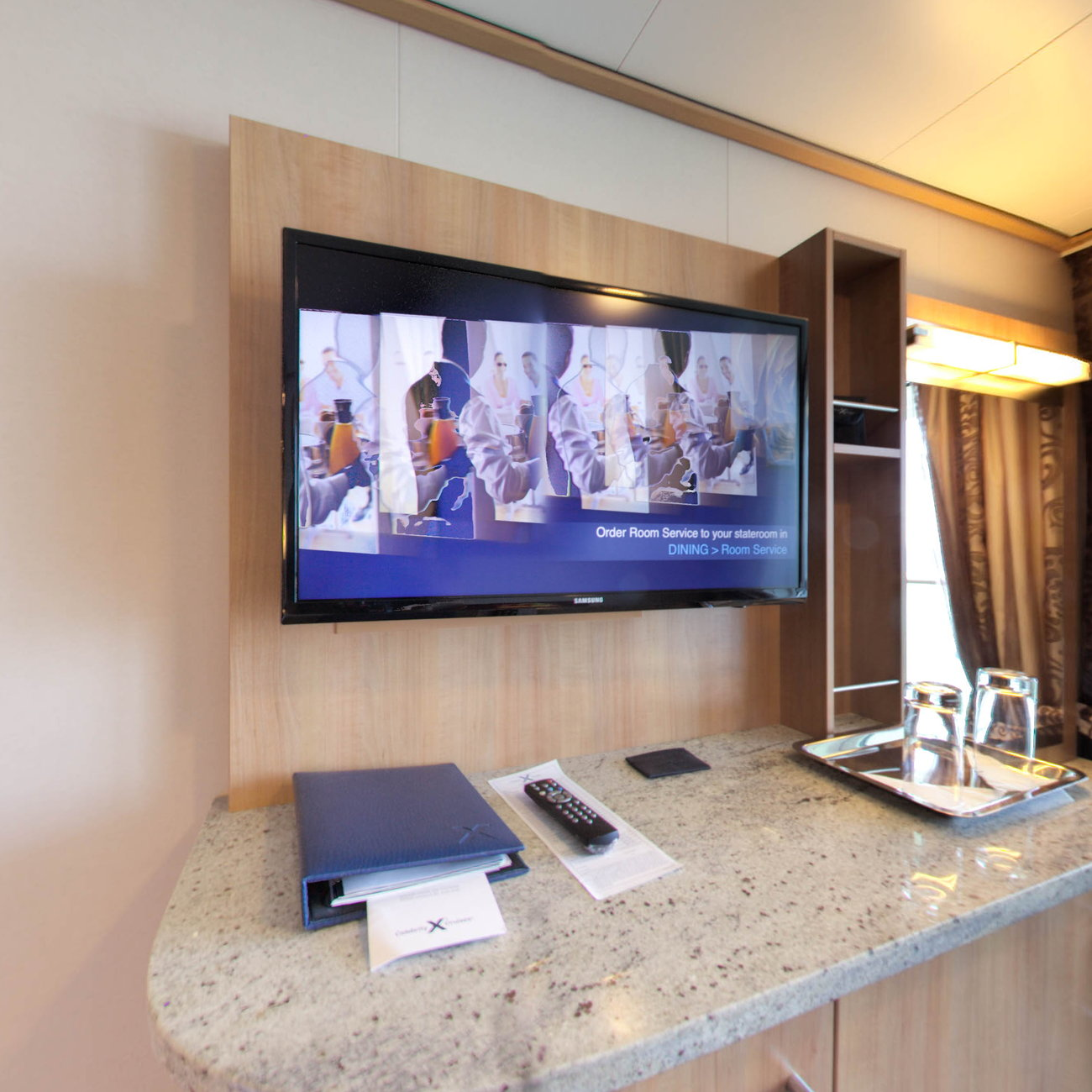 Panorama of The Concierge Class Cabin on Celebrity Reflection