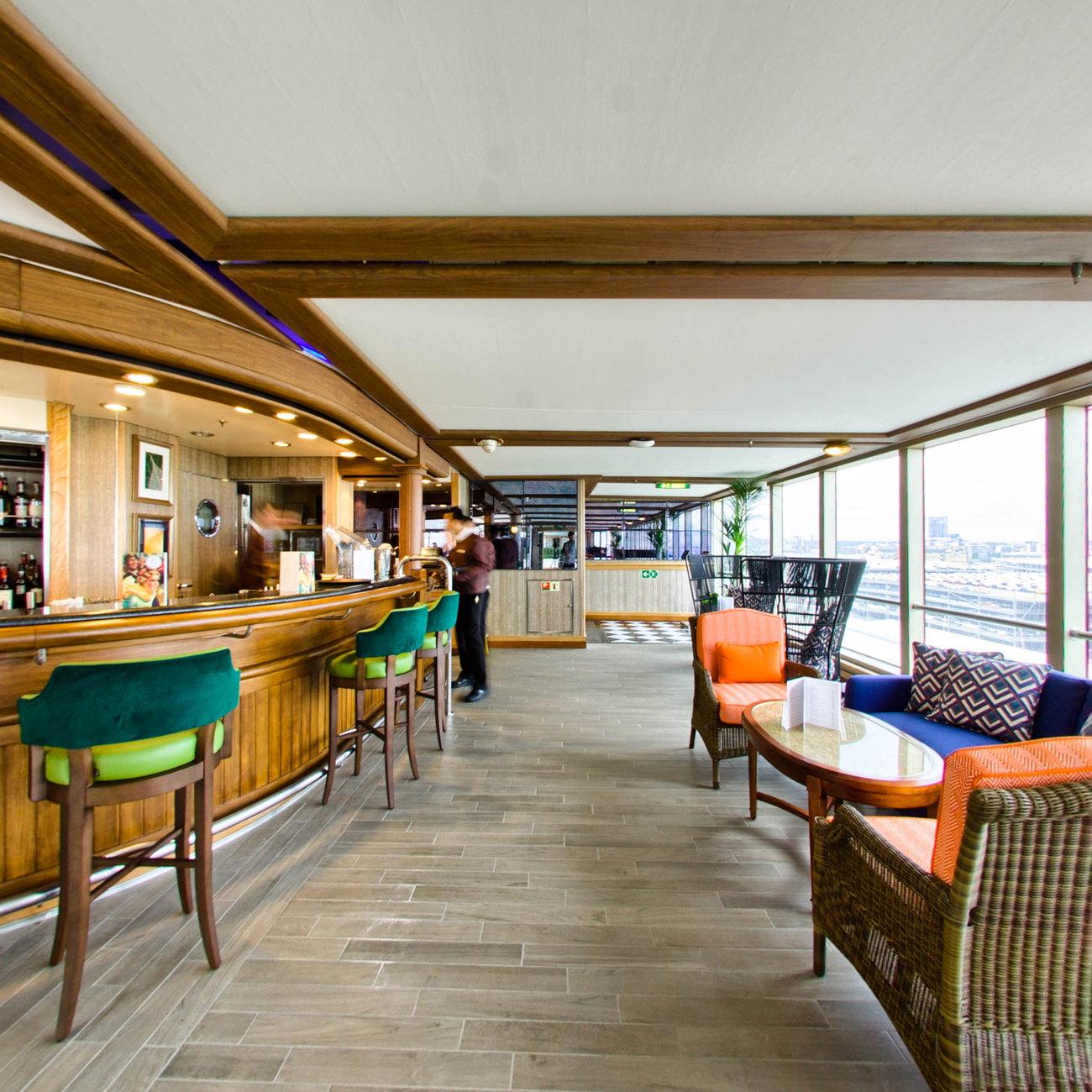 Winter Garden On Cunard Queen Victoria Cruise Ship