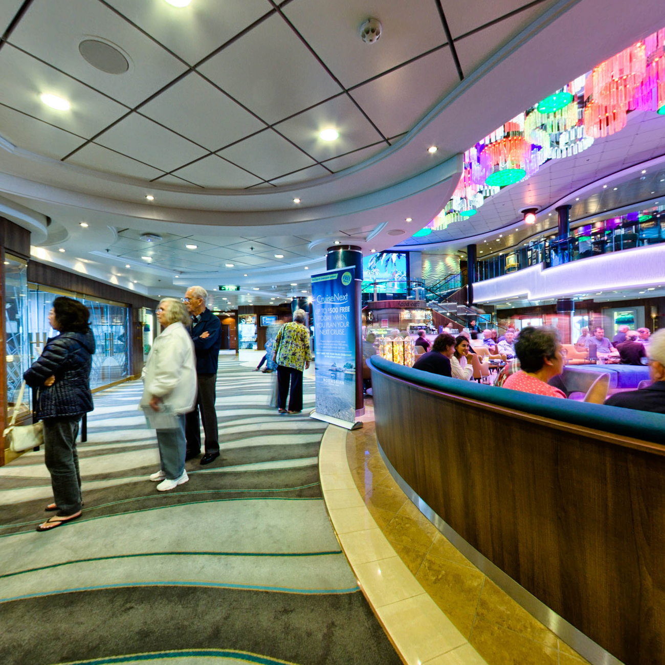 Panorama of Atrium on Norwegian Jade