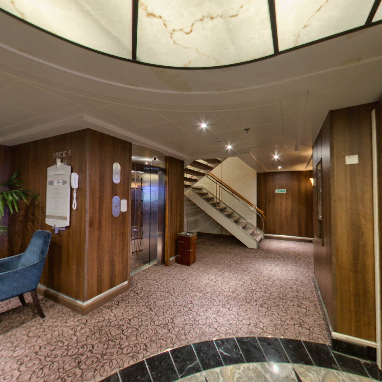 Panorama of Compass Rose on Seven Seas Navigator