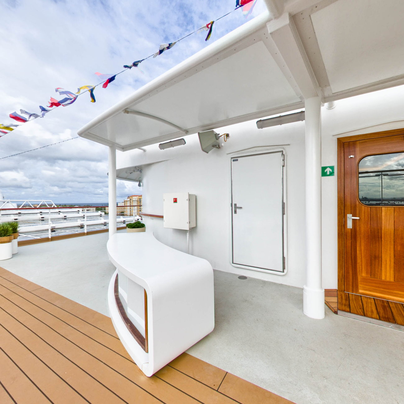 Panorama of Sports Deck on Viking Sea