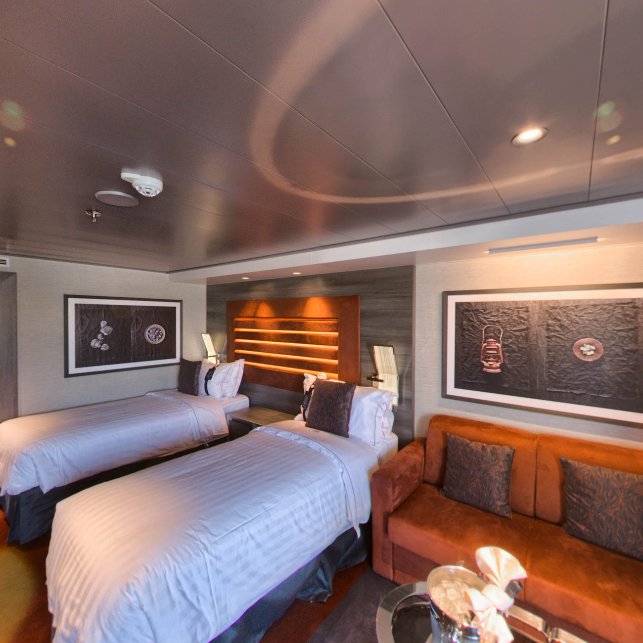 Panorama of The MSC Yacht Club Wellness Deluxe Suite on MSC Meraviglia