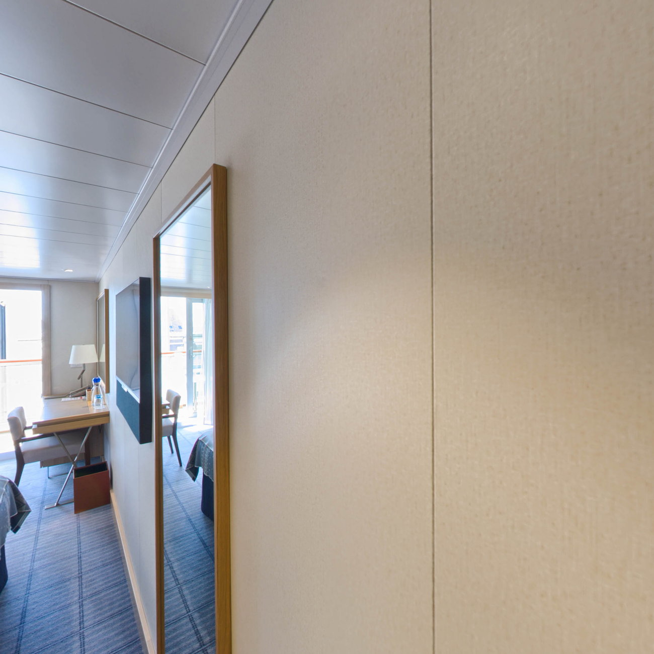 Panorama of The Veranda Cabin on Viking Sky