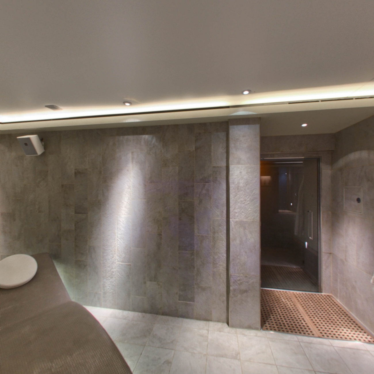 Panorama of Spa Thermal Suite on Viking Sky