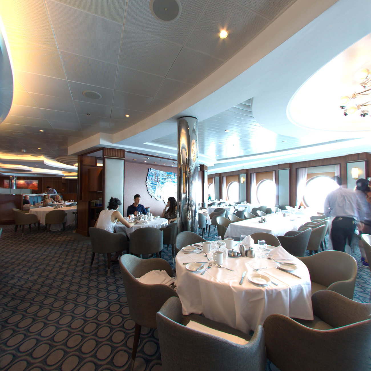Panorama of American Icon Grill on Oasis of the Seas