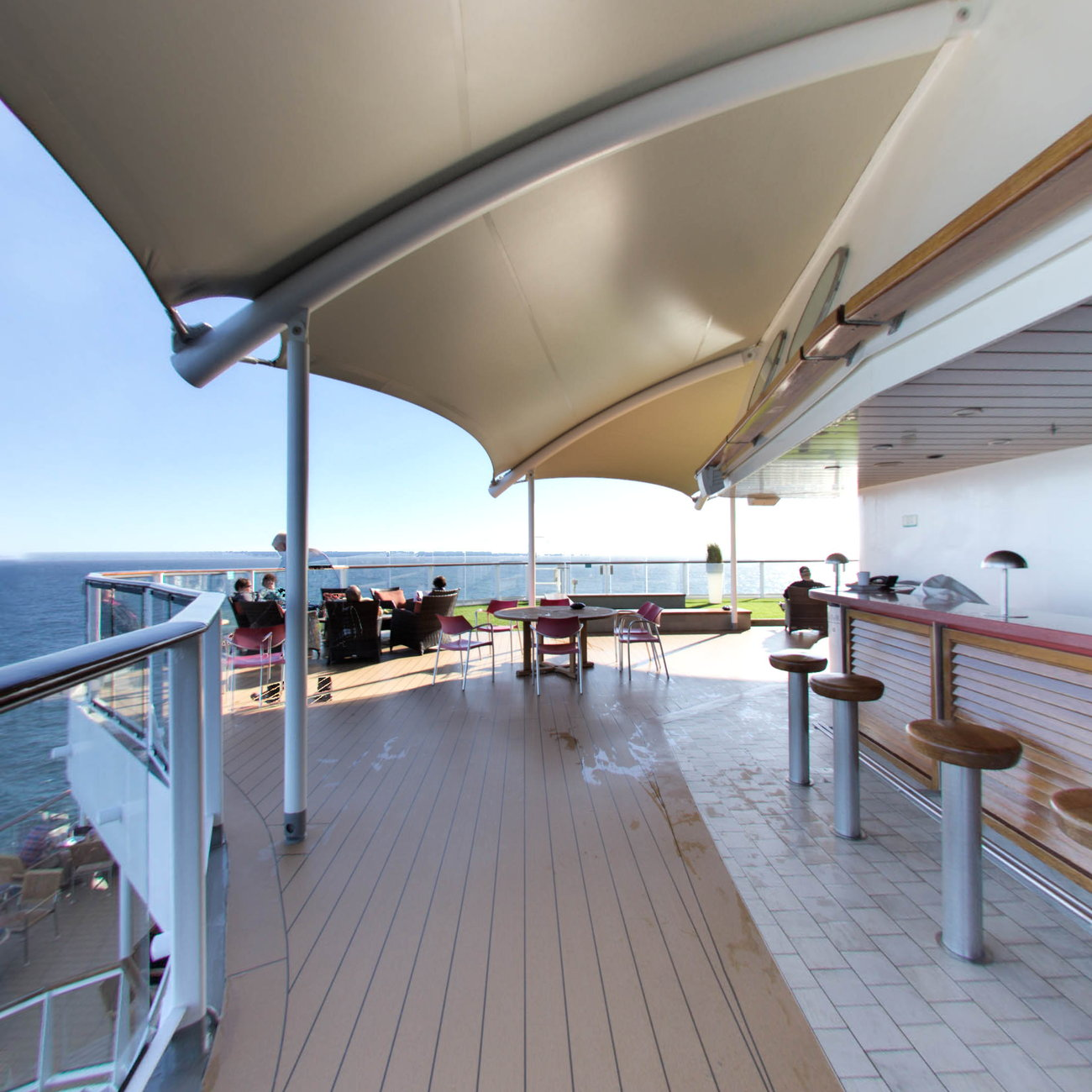 Panorama of The Sunset Bar on Celebrity Solstice