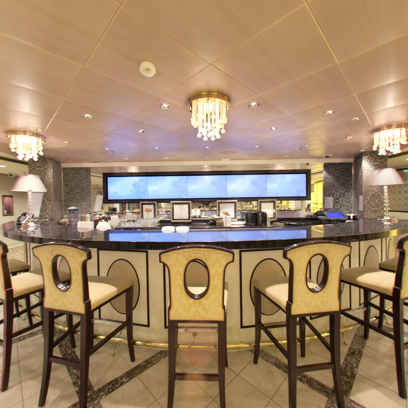Panorama of Galleria Tastings on Celebrity Solstice