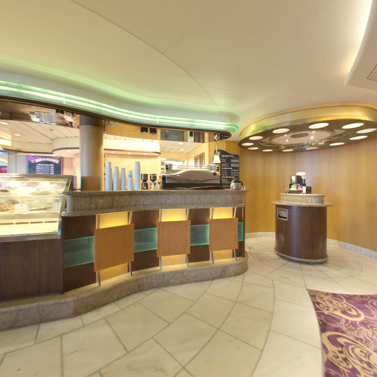 Panorama of Cafe Latte-Tudes on Enchantment of the Seas