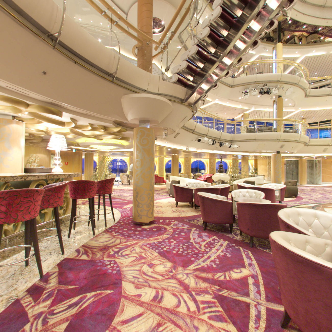 Panorama of R Bar on Enchantment of the Seas