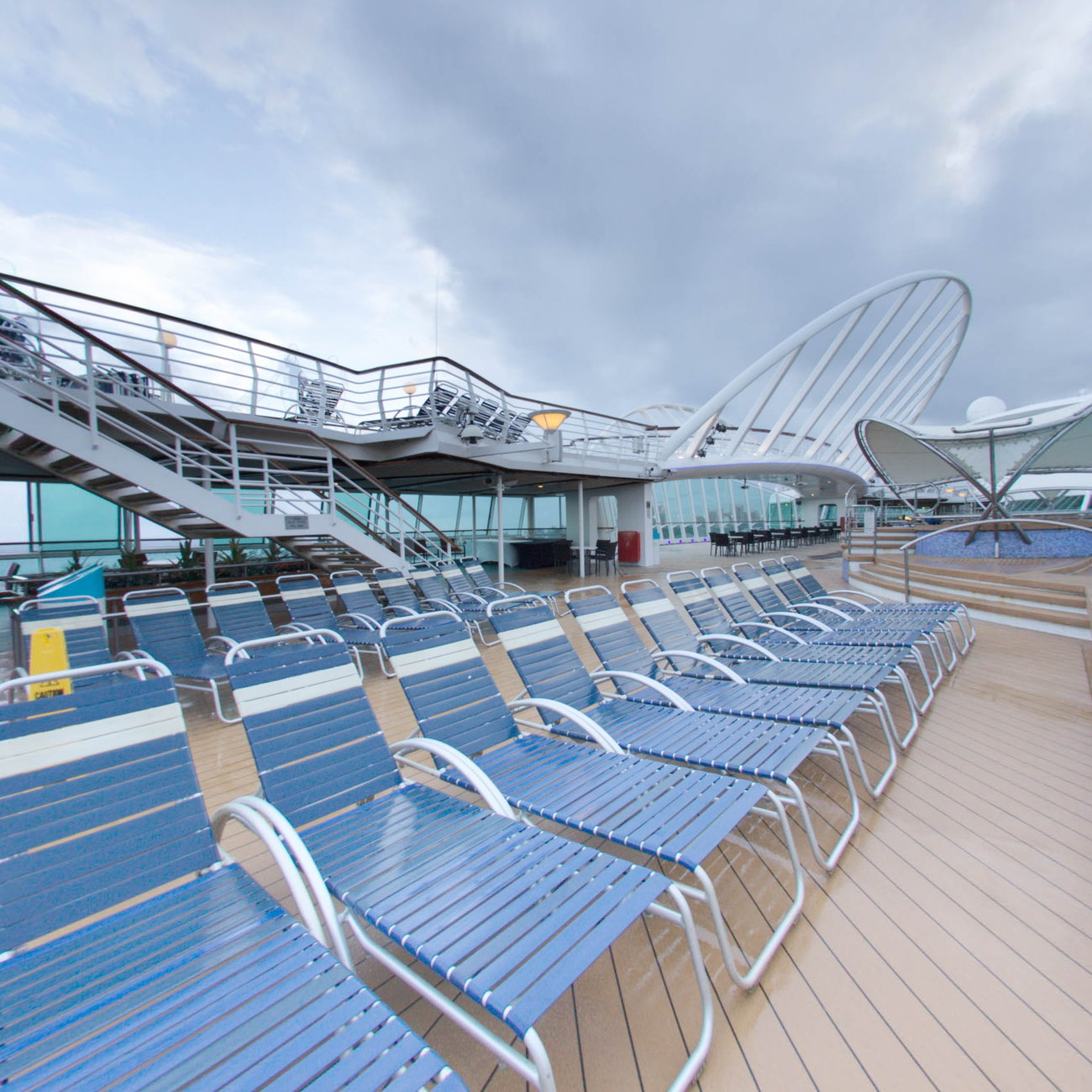 Panorama of The Main Pool on Enchantment of the Seas
