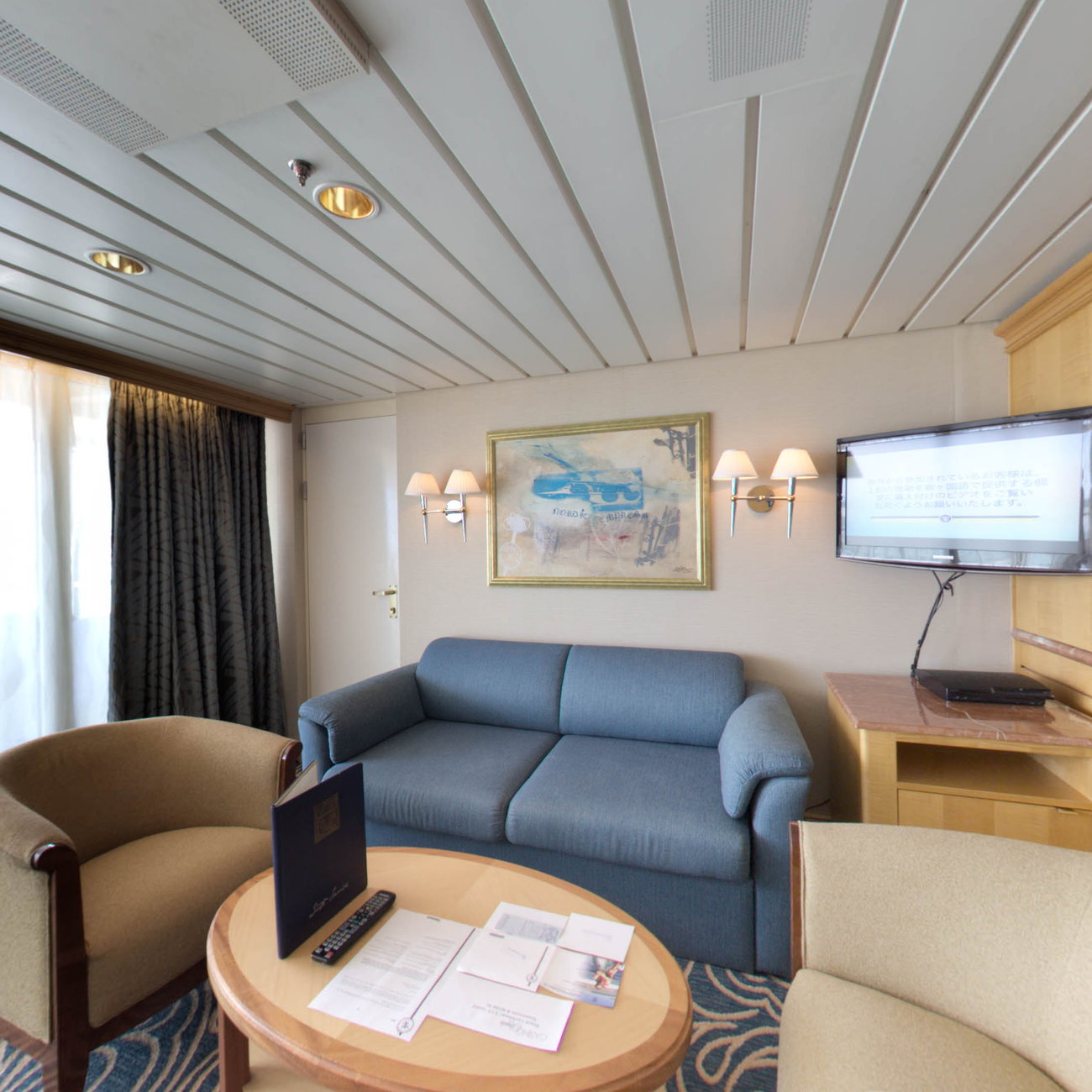 Panorama of The Grand Suite on Enchantment of the Seas