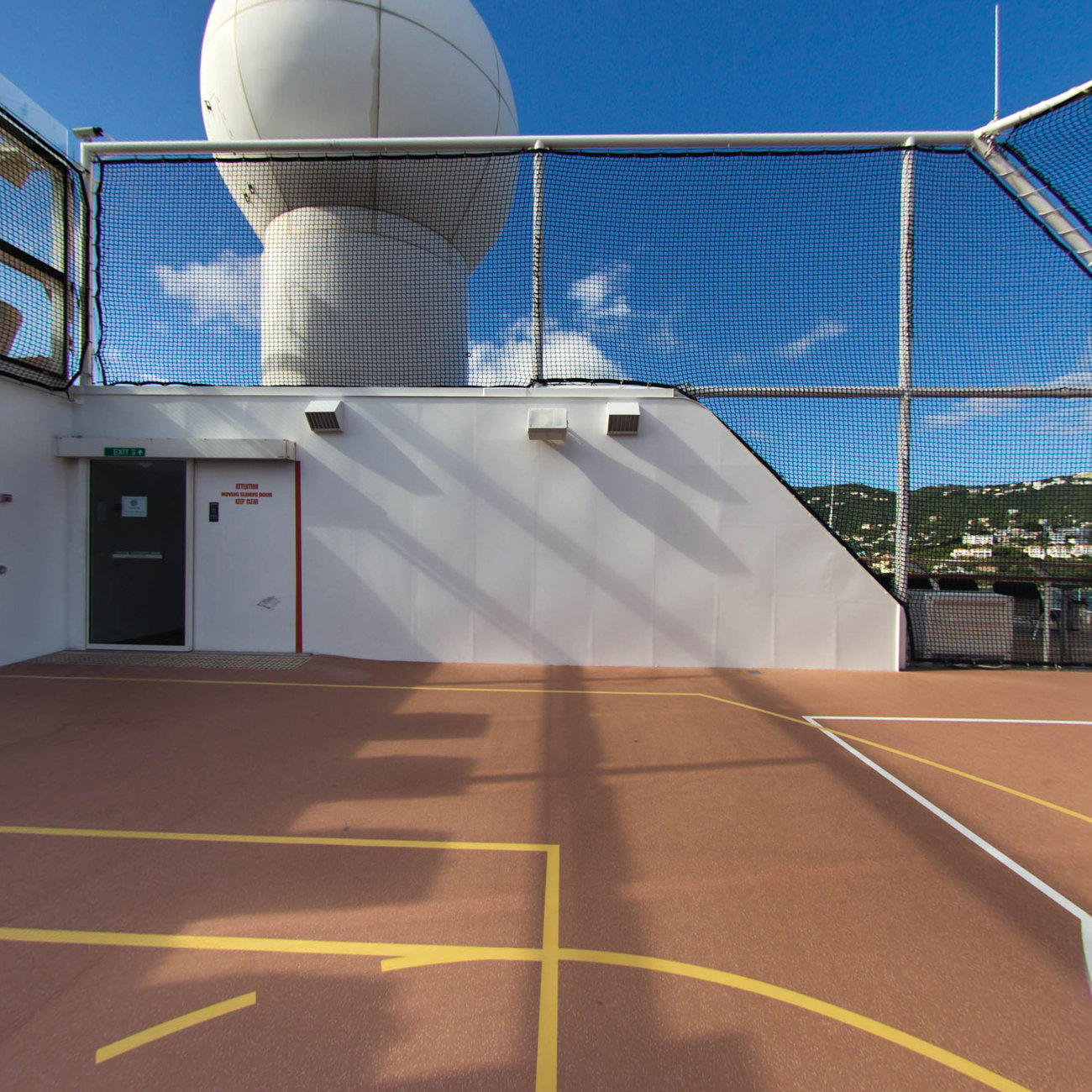 Panorama of Basketball Court on Celebrity Equinox