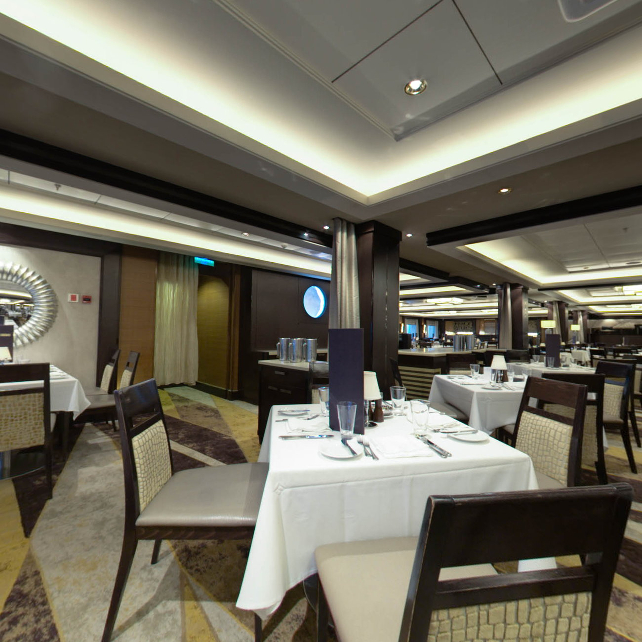 Panorama of The Manhattan Room Restaurant on Norwegian Epic