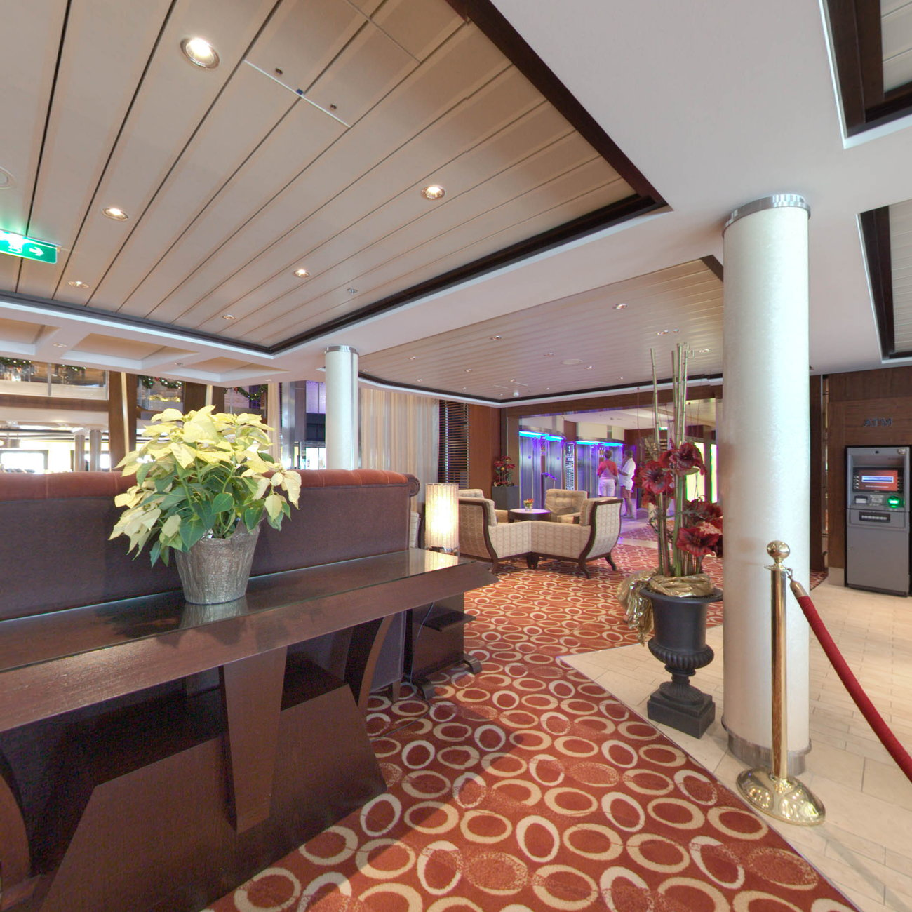 Panorama of Guest Relations Desk on Celebrity Silhouette