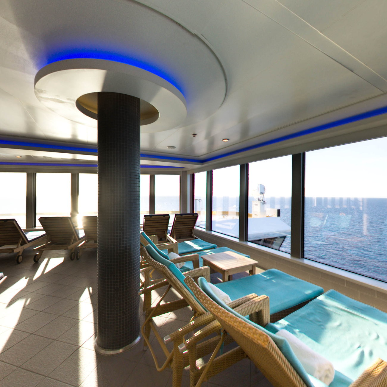 Panorama of Mandara Spa on Norwegian Breakaway