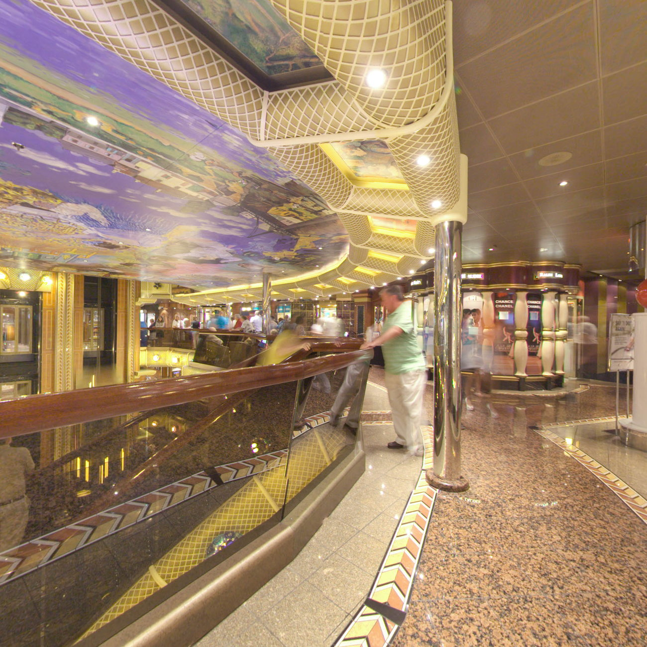 Panorama of Fun Shops on Carnival Conquest