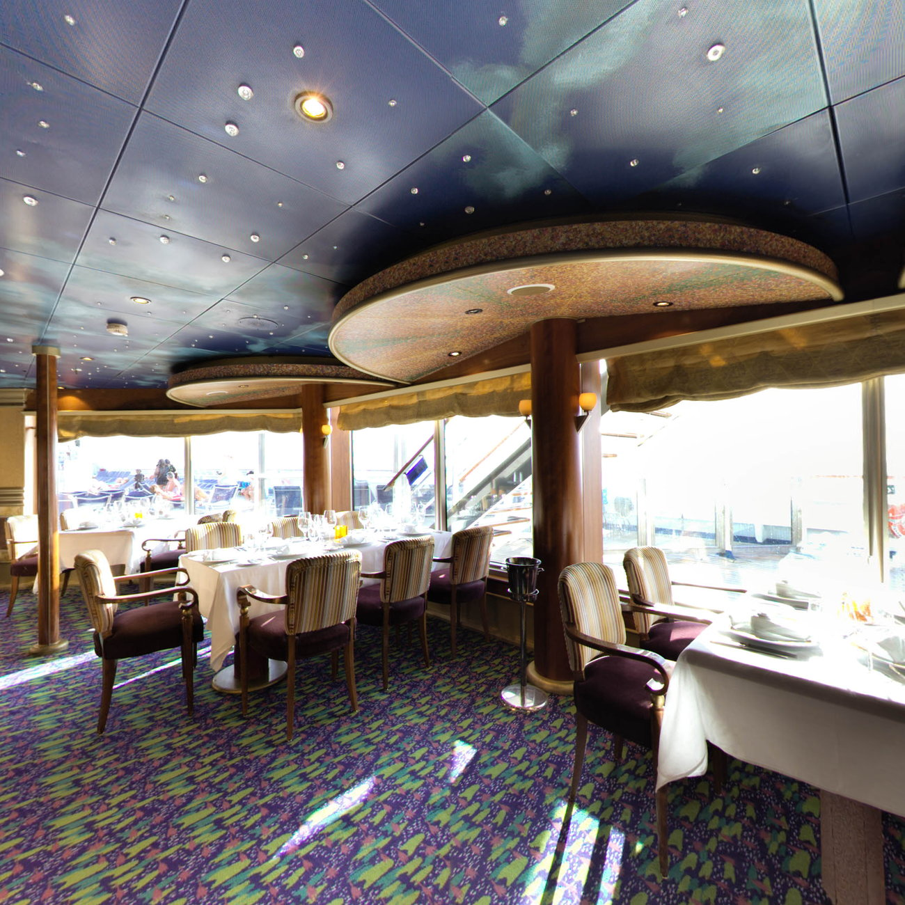 Panorama of The Point Steakhouse on Carnival Conquest