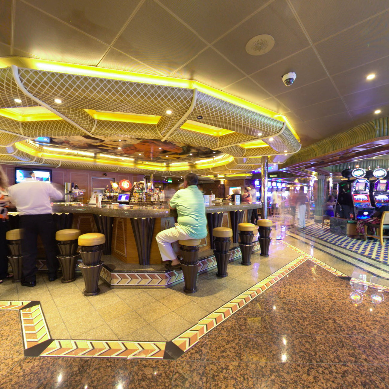 Panorama of Impressions Bar on Carnival Conquest