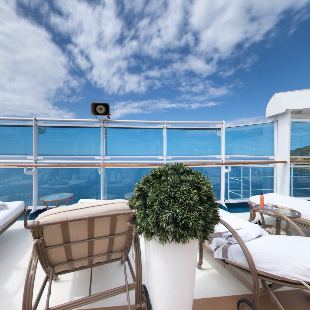 Panorama of The Sanctuary on Royal Princess